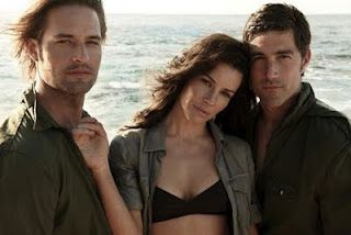 Possibly my favorite love triangle of all time: Lost's Sawyer, Kate, & Jack. Although I did really want her with Sawyer at the end of the day :)