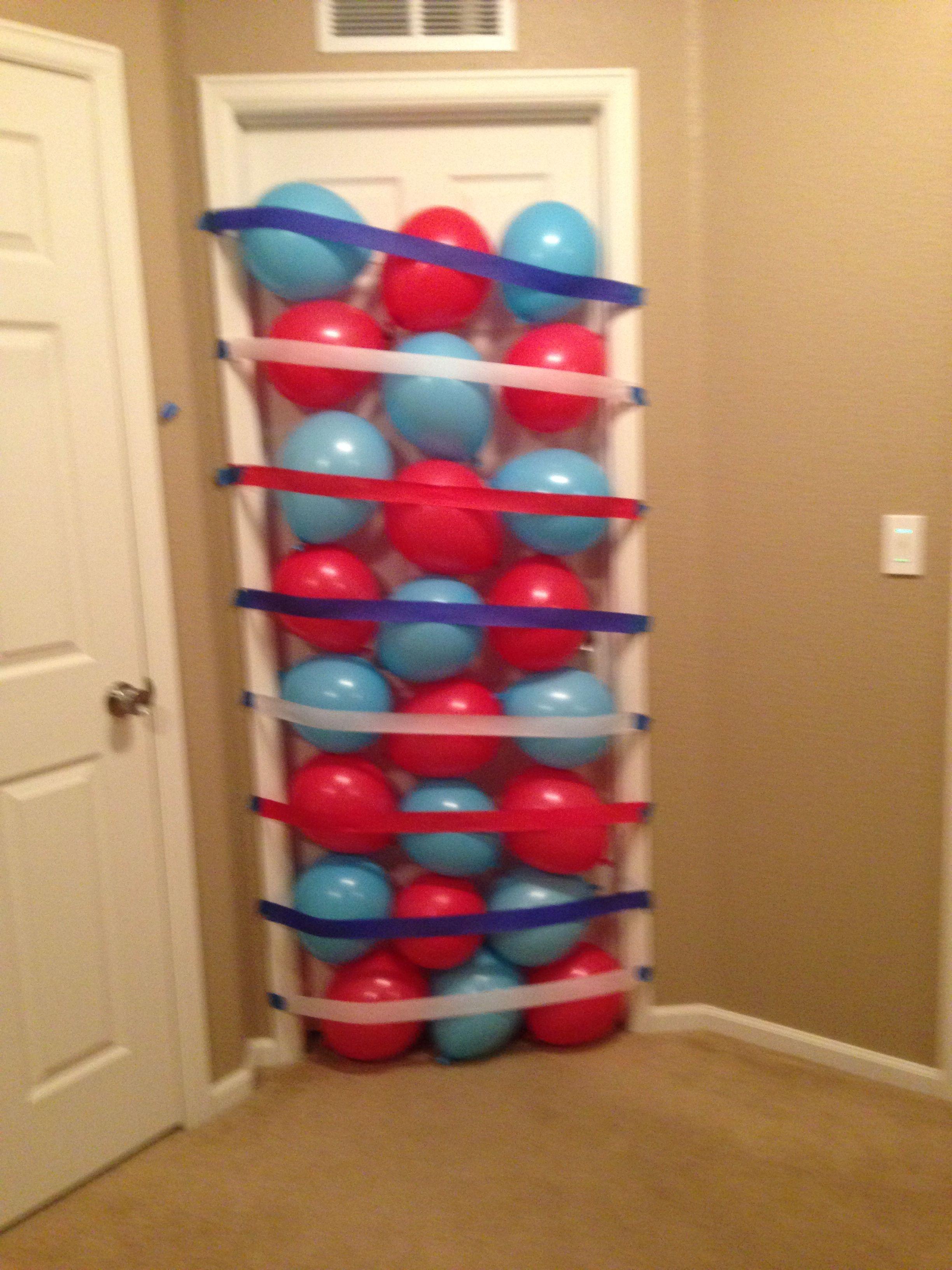 Birthday Balloon Door Surprise Color Coordinated Even