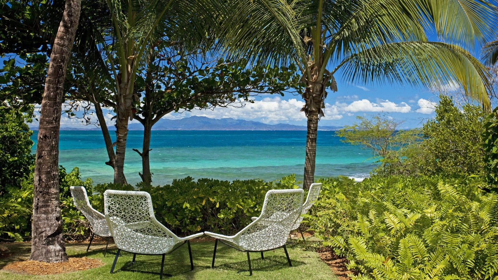 view from the island of Vieques, off the