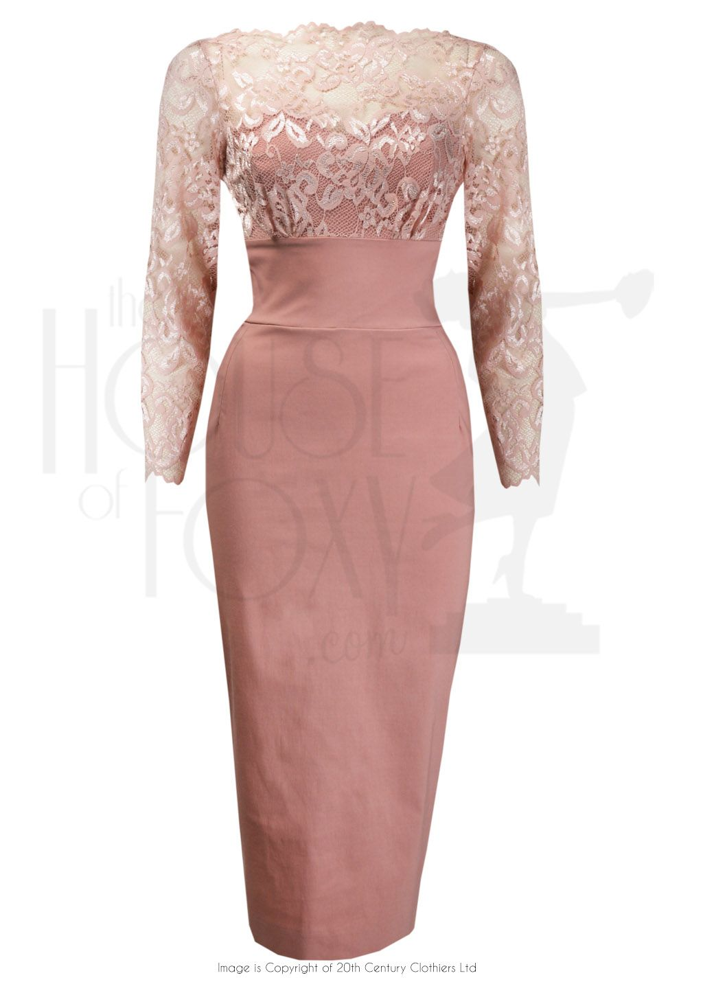 60s Style BardotWiggle Dress in Dusty Rose   P E R S O N A L ...