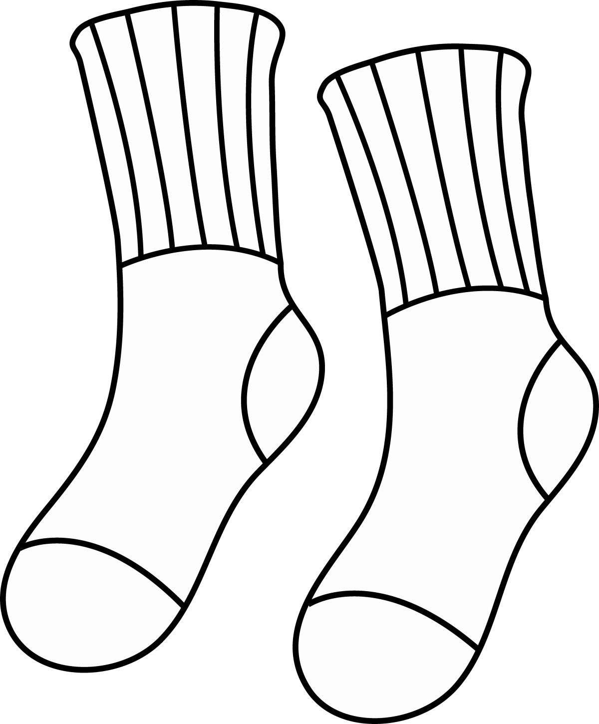 Free Download Socks Coloring Pages in 2020 Coloring