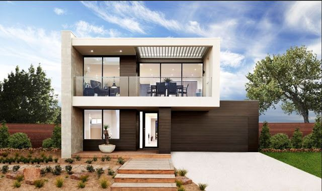 Modern house facades for two story house modern house for Casa 2 pisos modernas