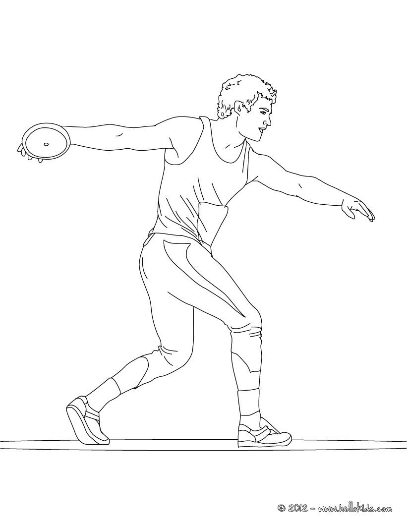 There Is The Discus Throw Athletics Coloring Page Original And
