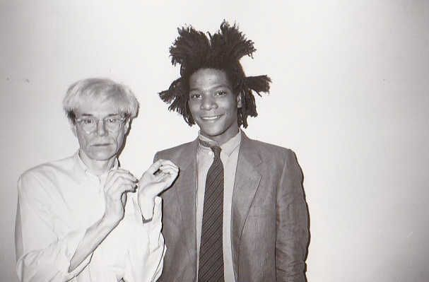CHRISTOPHER MAKOS : ANDY WARHOL et JEAN MICHEL BASQUIAT, 1982 Tirage argentique…
