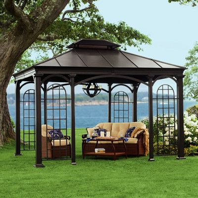 I Want This Living Home Outdoors 10 X 12 Aluminum Hardtop Gazebo Hardtop Gazebo Gazebo Gazebo Pergola