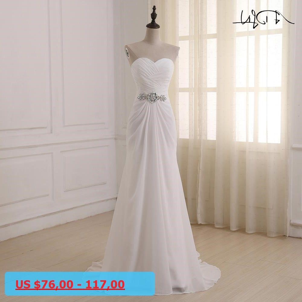 Beach wedding dresses plus size  ADLN Wedding Dresses Sweetheart Sleeveless Vestidos de Noiva Sexy