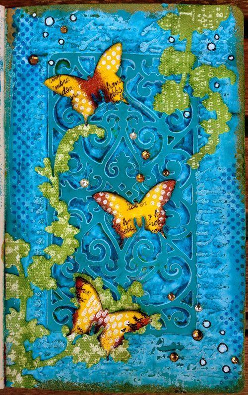 Texture paste TA - art journal inspiration Birgit Koopsen.