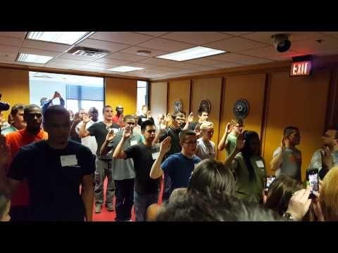 Victor Neil Jones swearing in at Dallas Meps | My Kids | Dallas