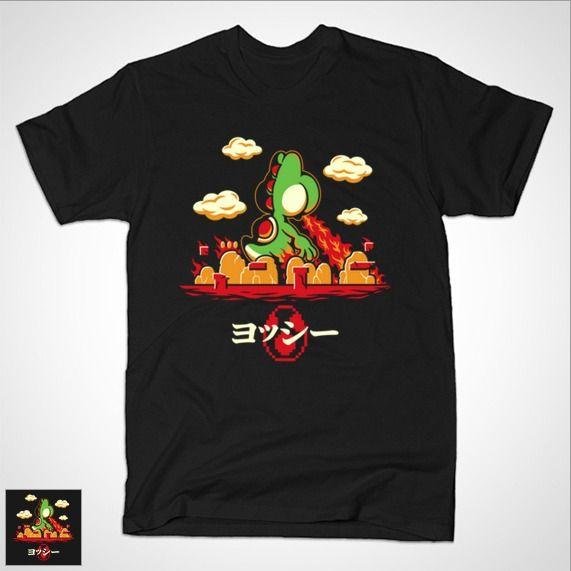 YOSHZILLA T-Shirt - Super Mario Bros T-Shirt is $14 today at TeePublic!