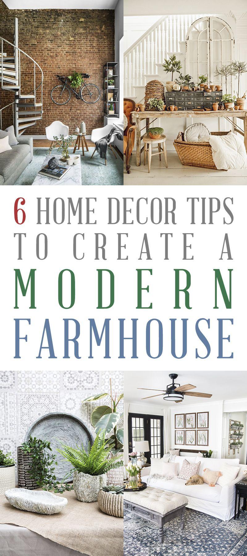 6 Home Decor Tips to Create a Modern Farmhouse - The Cottage Market