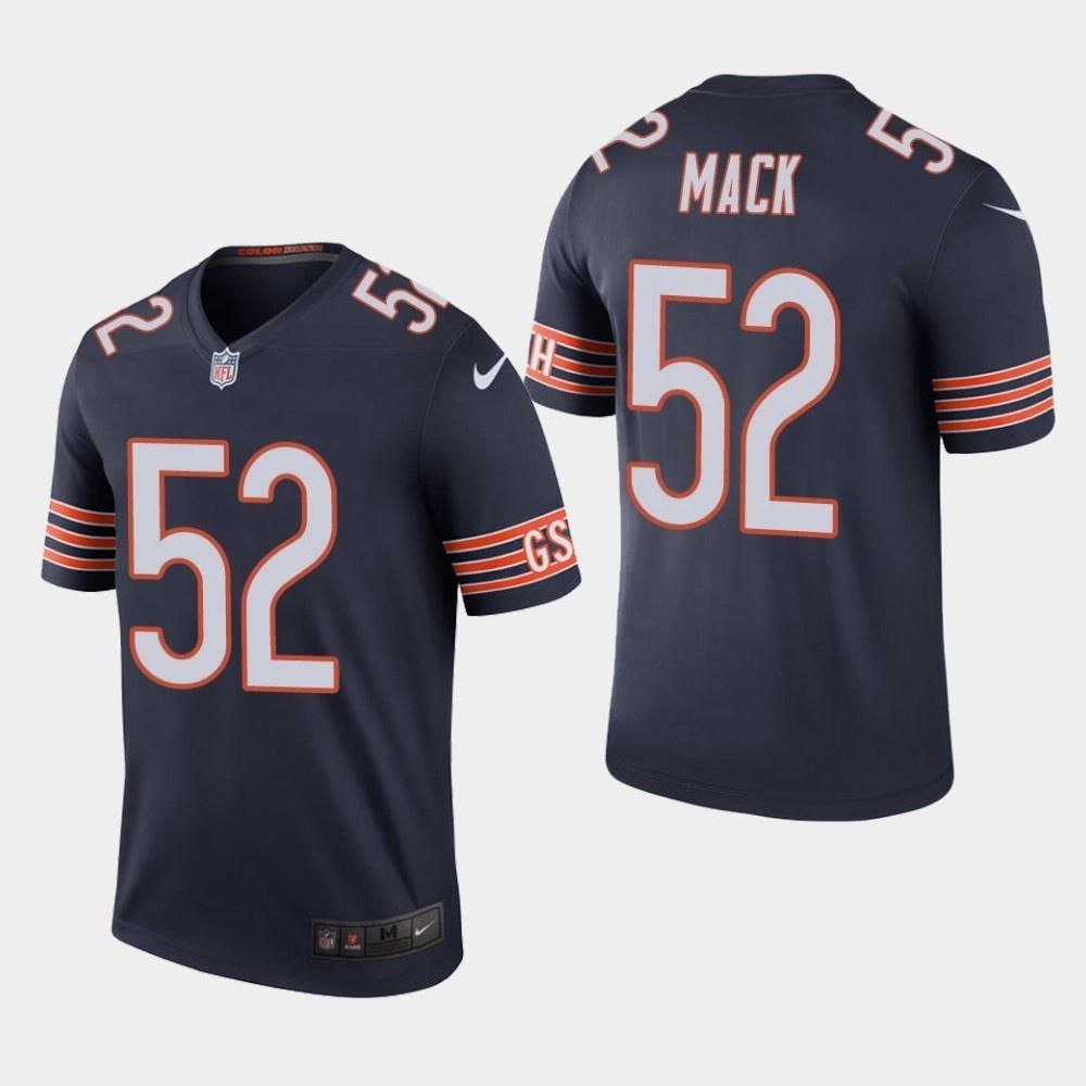 low priced 77527 15be9 Men's Nike Khalil Mack Chicago Bears Color Rush Legend ...