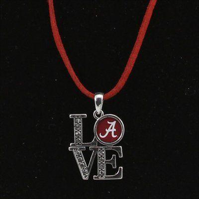 Sports Accessory Store Arkansas Razorbacks Red Austrian Crystal Heart Logo Silver Chain Necklace UA