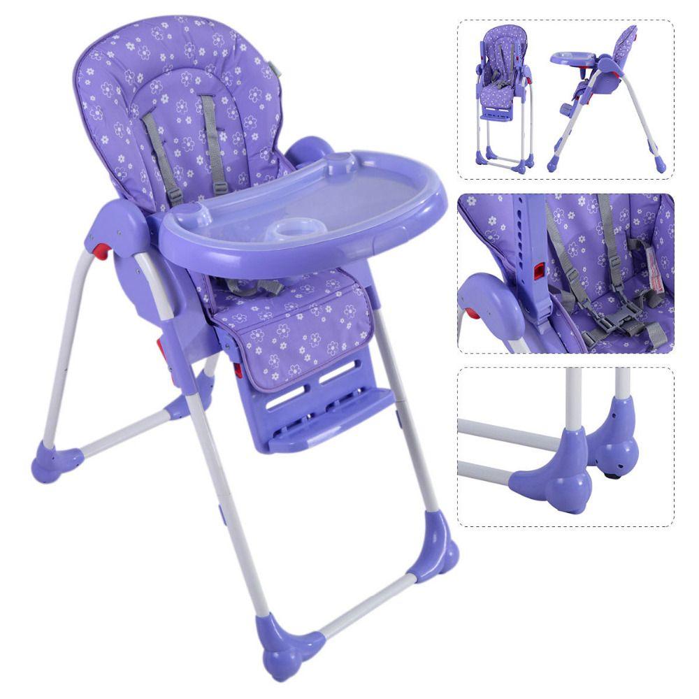 Einstellbare Baby Hochstuhl Infant Kleinkind Fütterung Sitzerhöhung Falten  Lila Blau Grün Orange Lila 4 Farbe BB4544