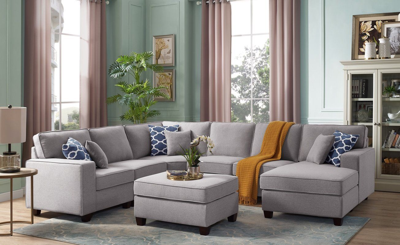Mequon Right Hand Facing Modular Sectional With Ottoman