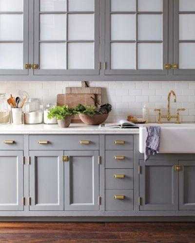 20 Gorgeous Non White Kitchens Kitchen Cabinet Design Blue Gray Kitchen Cabinets Painted Kitchen Cabinets Colors