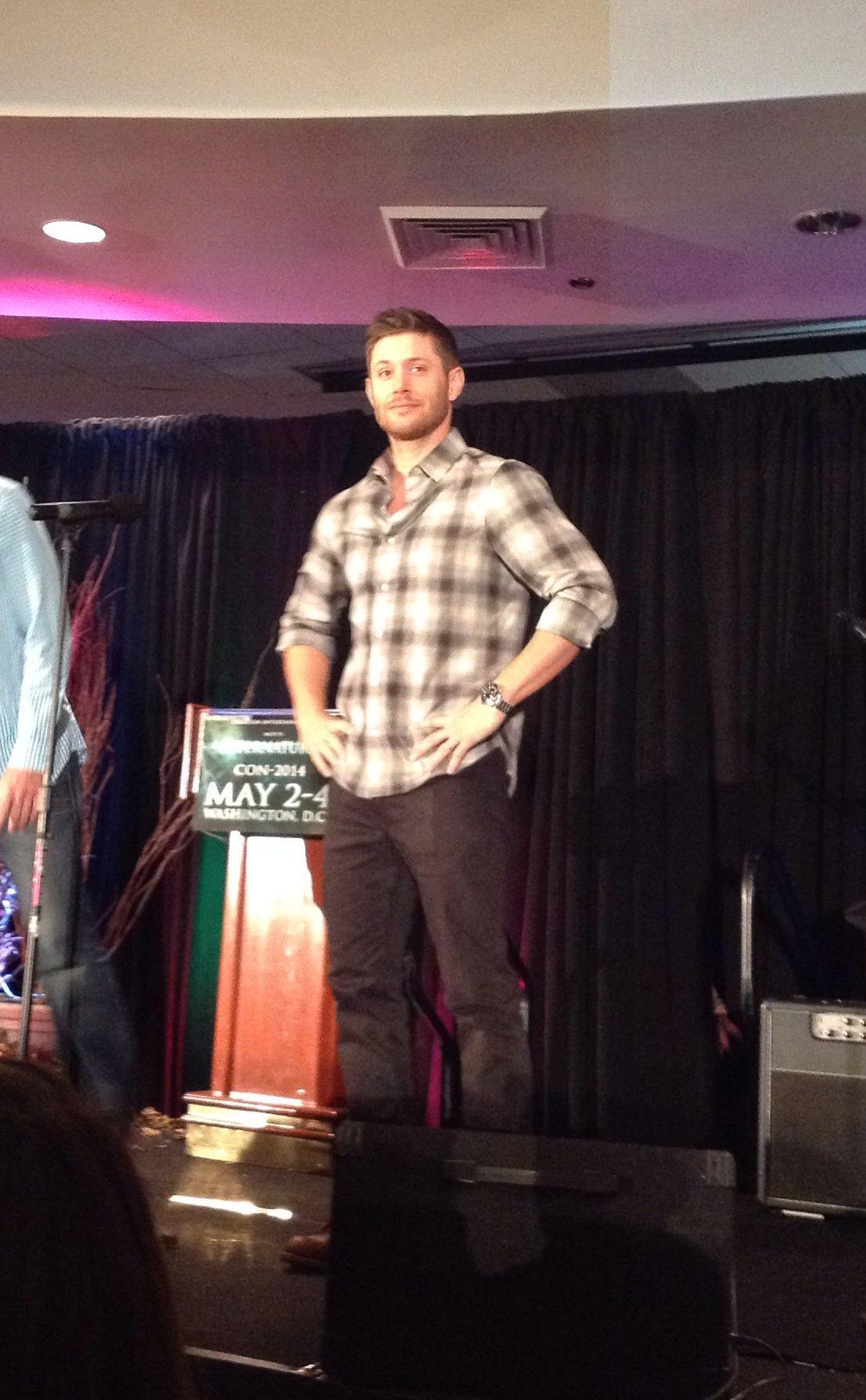 Just look at him!  Gah!!!   #JensenAckles  #DCCon2014