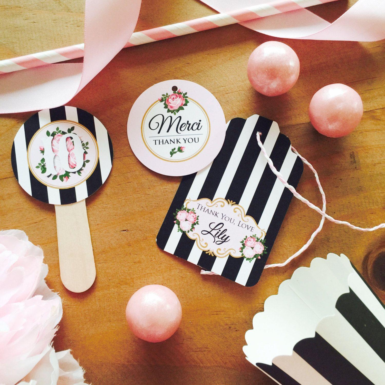 PARIS Party Printable Set