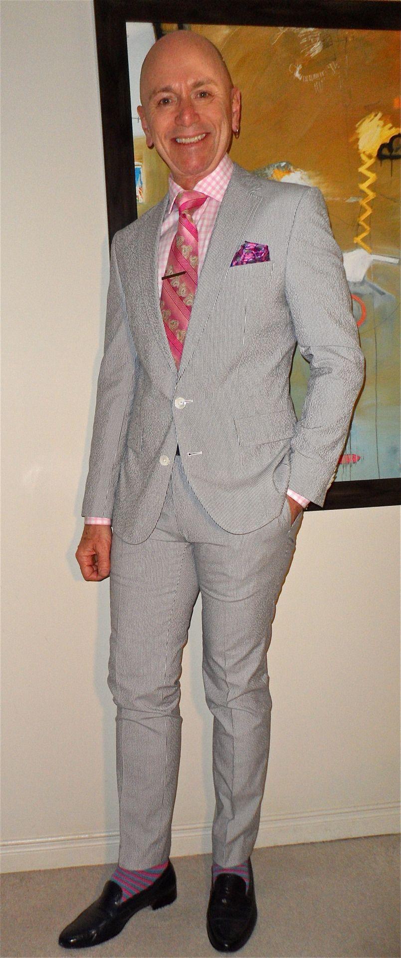249729f4884 Hugo Boss seersucker suit, Tommy Hilfiger shirt, Ted Baker tie, Deerskin  Trading…