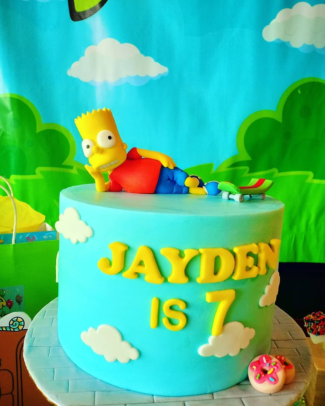 Make A Wish Creations On Instagram Makeawish Creations Themedparty Simpsons Cake Simpsons Cake Cake Simpsons Party