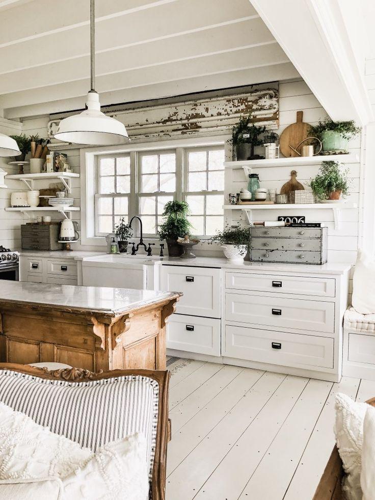 Where Did The Corbel Shelves Go? Farmhouse kitchen decor