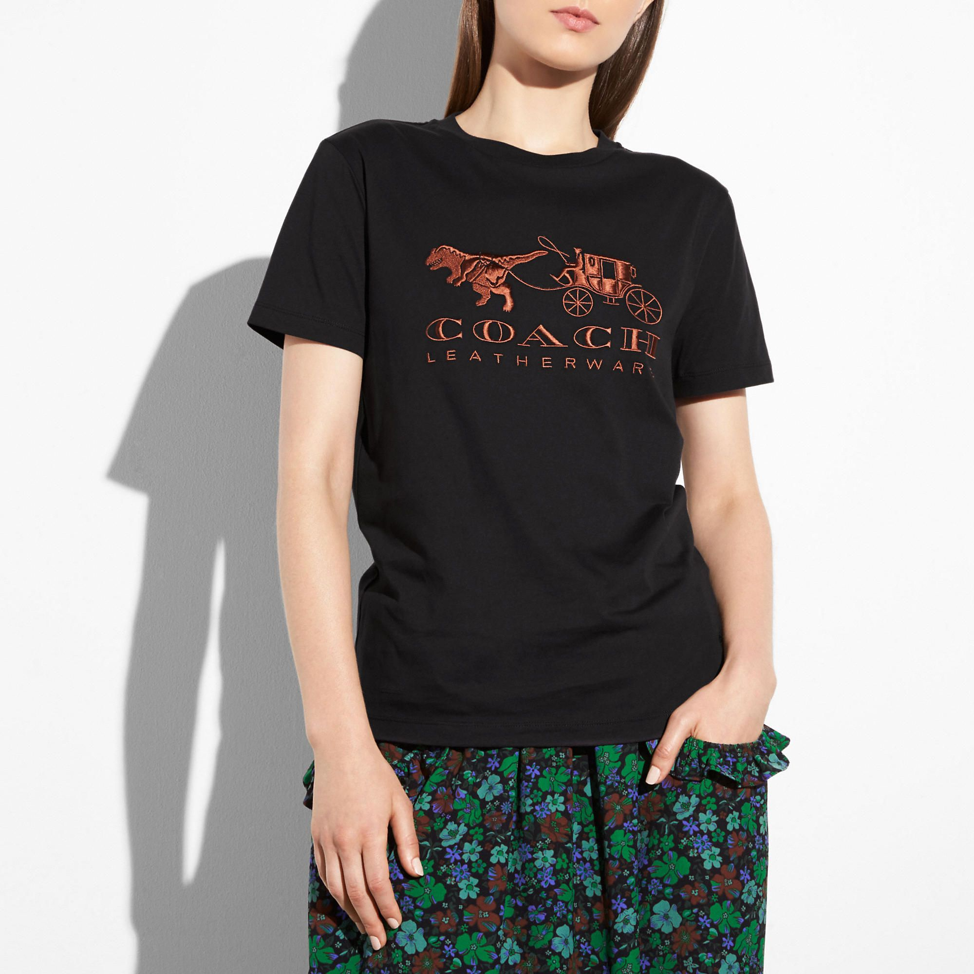 84a97d47ac COACH Rexy And Carriage T-shirt - Women's | Products | Shirts, T ...