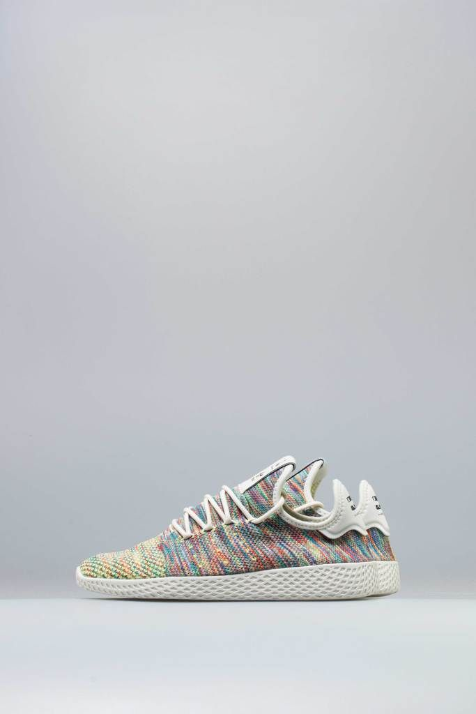 pharrell williams x adidas tennis hu multi - colore mens scarpa multi -