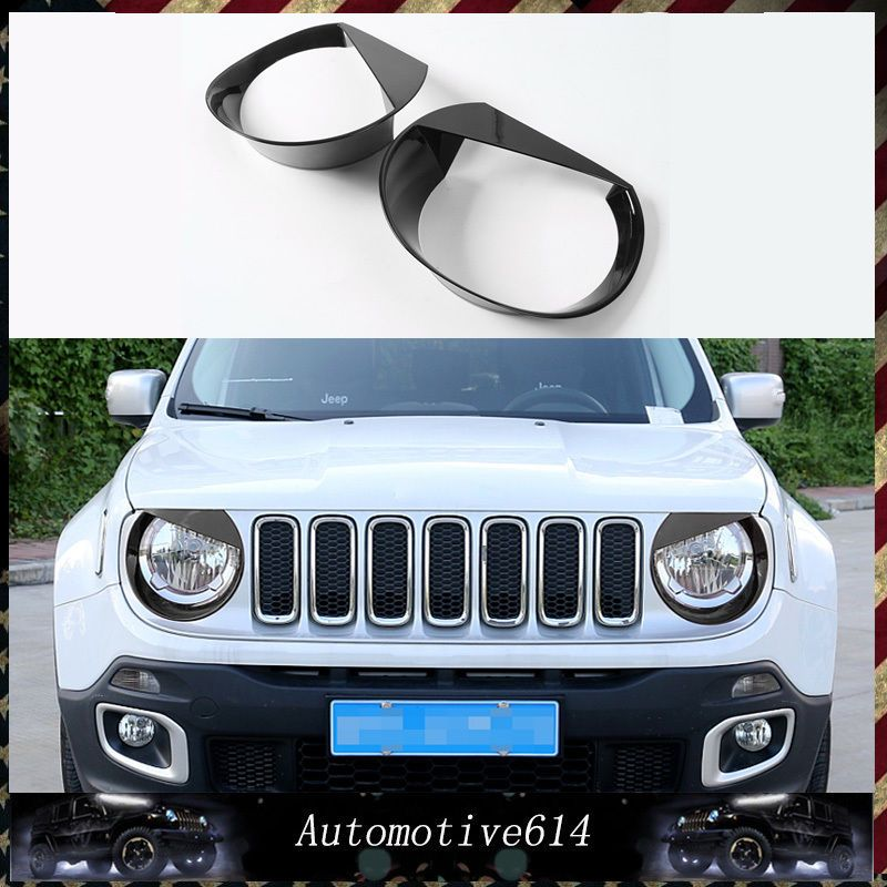 2pcs Angry Bird Headlamptrim Cover Abs Bezels For Jeep Renegade