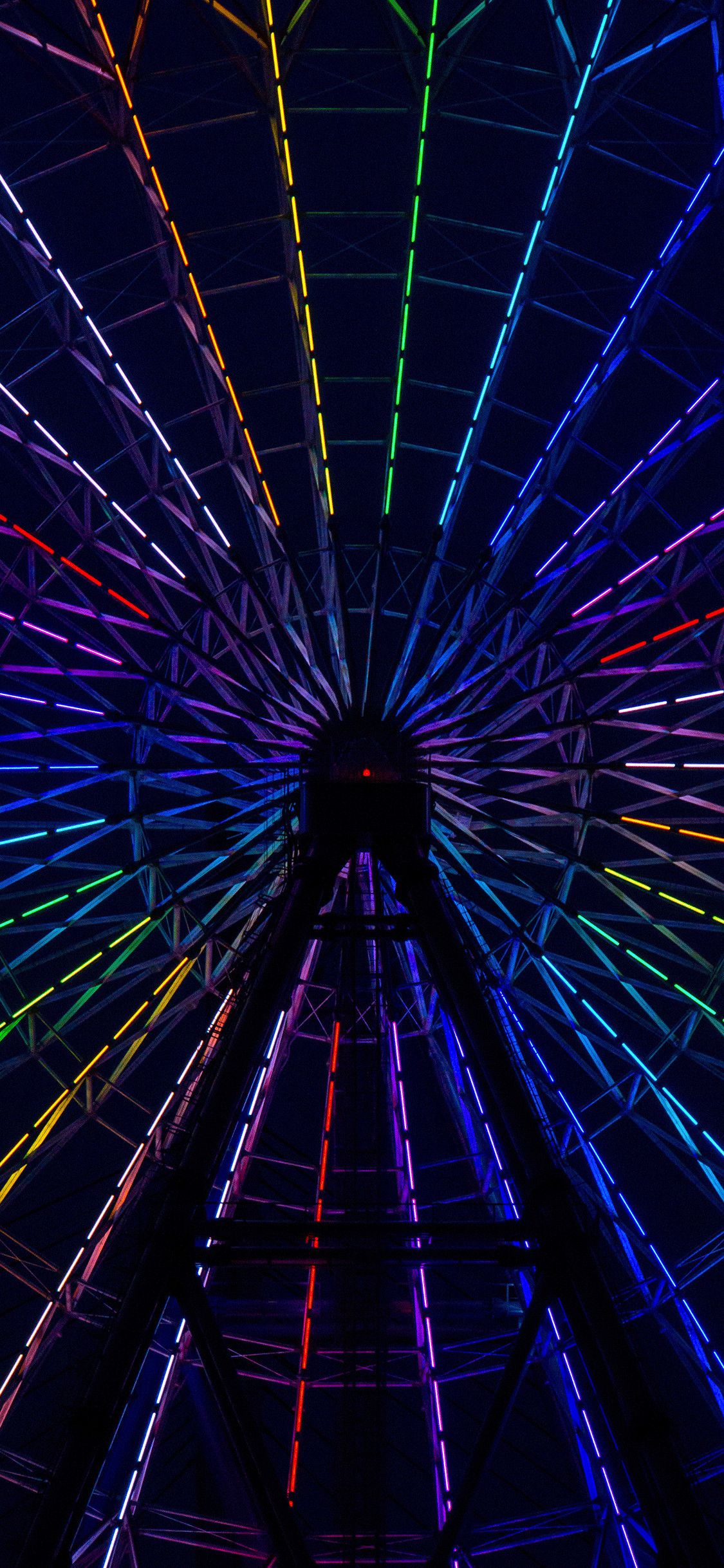 Iphone Xr Wallpaper 4k Fall Mywallpapers Site Neon Light Wallpaper Ferris Wheel Rainbow Pictures