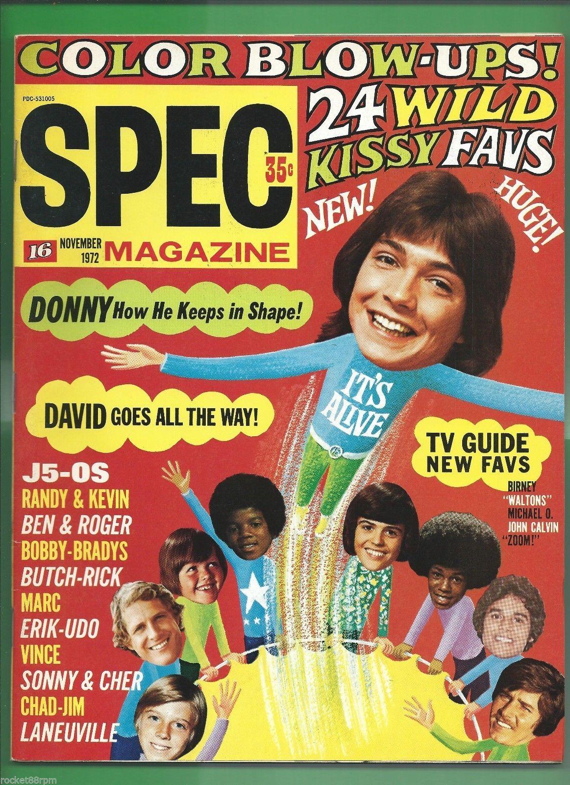 magazine 16 spec cher donny osmond david cassidy michael jackson 5