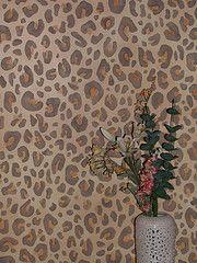 Leopard print painted bathroom