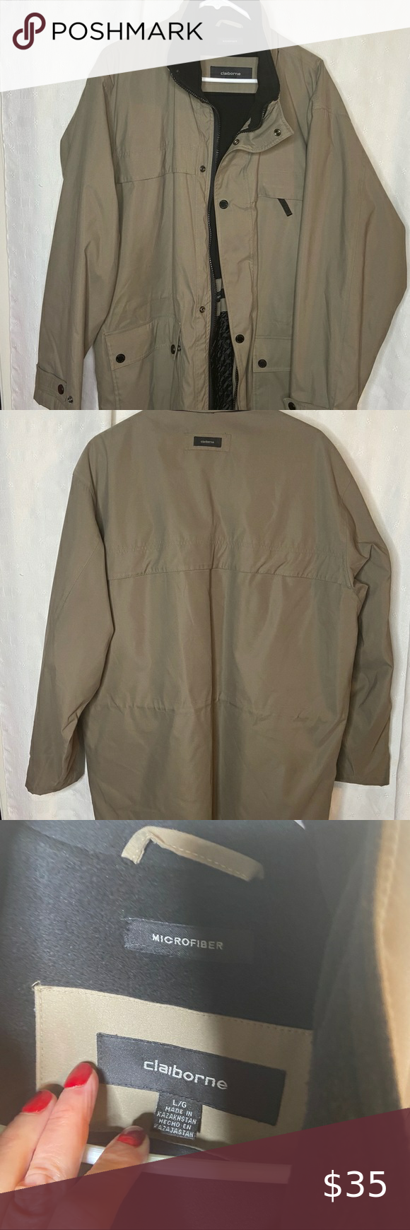 Liz Claiborne Microfiber Men S Jacket In 2021 Liz Claiborne Jackets Claiborne [ 1740 x 580 Pixel ]