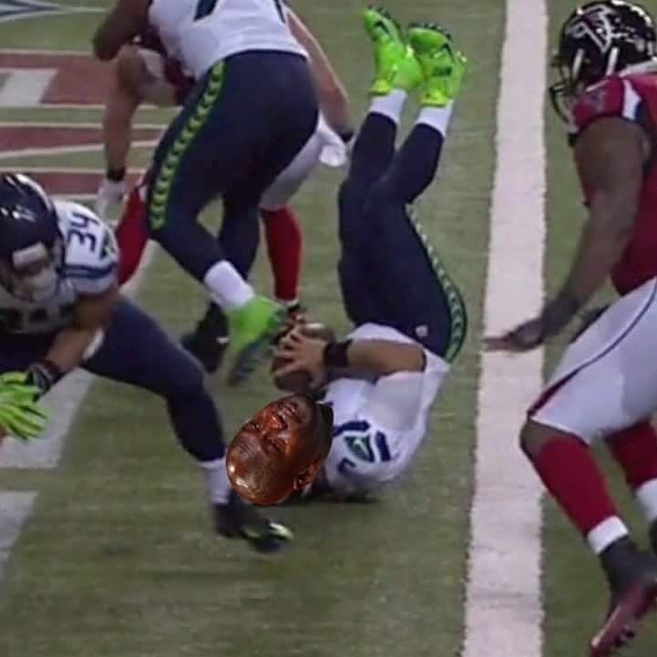 Down Go The Seahawks Cryingjordanface Russellwilson Seahawks Falcons Nfl Football Cryingjordan Jordan Meme Jordans Russell Wilson