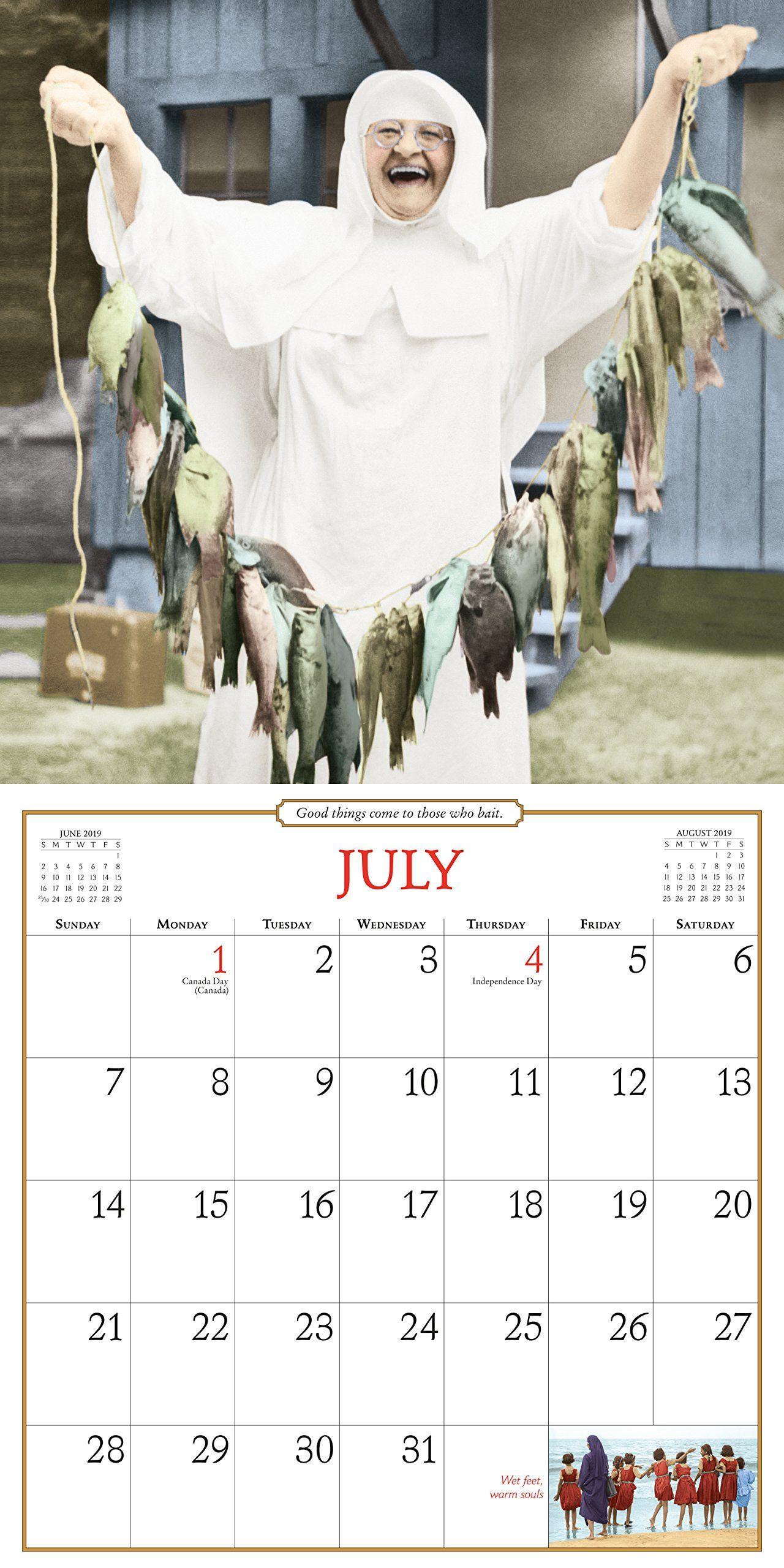 Nuns Having Fun 2019 Calendar