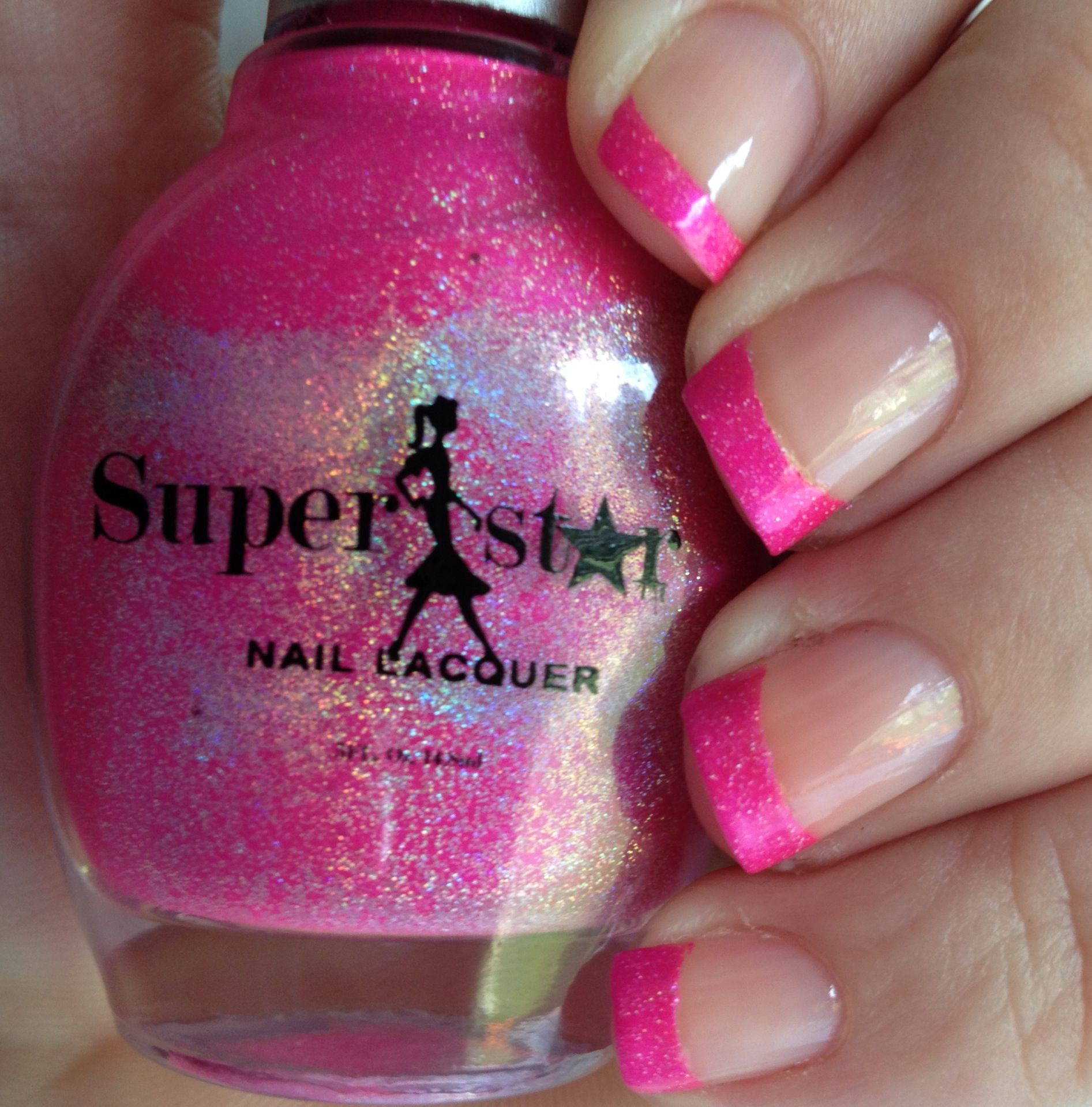 Pink-Tips w/ rising star Razzberry! Love the holographic colors in ...