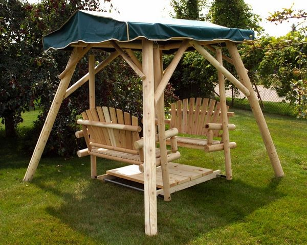 Wooden Porch Swing With Canopy Patio Swing Bench Canopy Patio