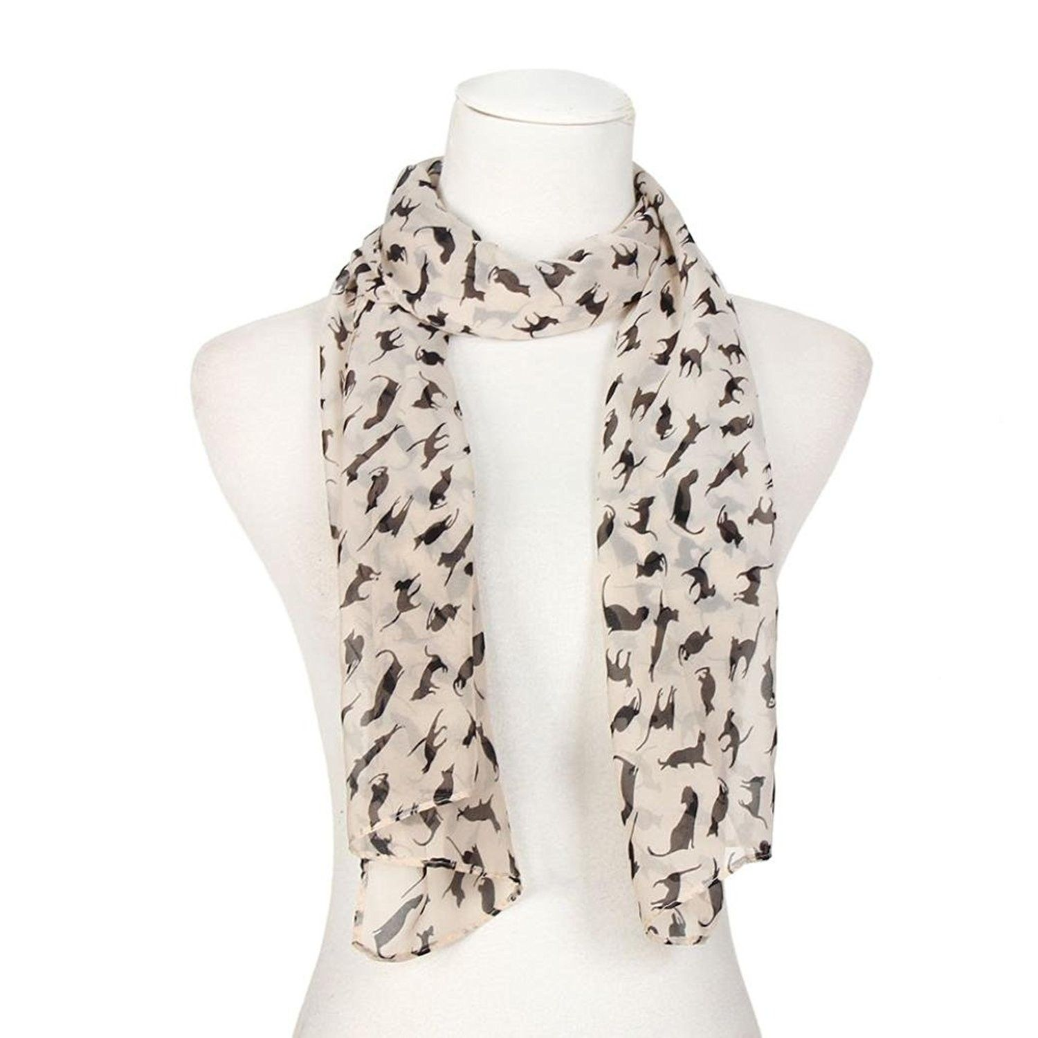 Tootal Vintage Mosaic 100/% Silk Fringed Scarf in Ivory Mod