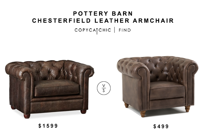 Pottery Barn Chesterfield Leather Armchair Copycatchic