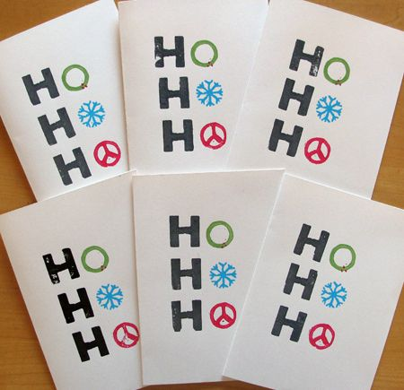 Hand-Stamped Holiday Cards | Blogged at amy a la mode. | Flickr