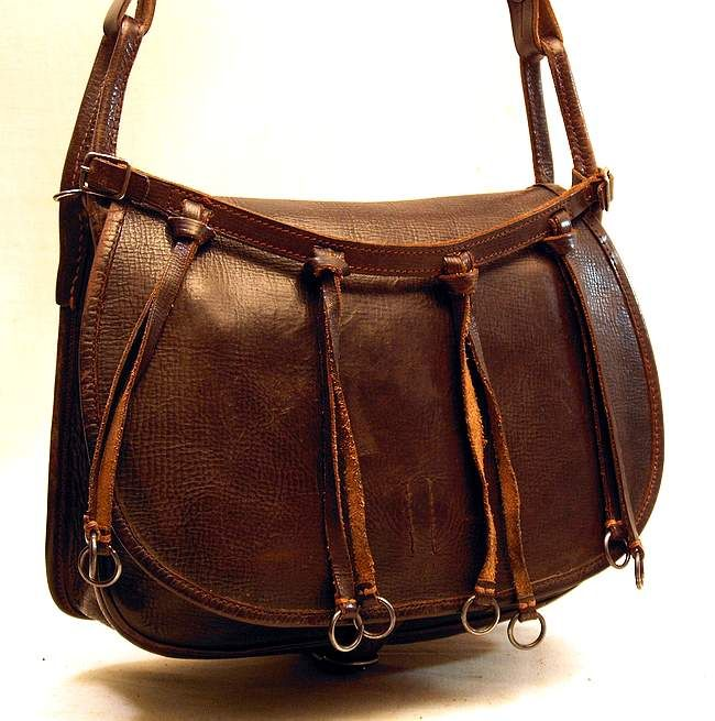 Classic leather hunting cartridge bag vintage