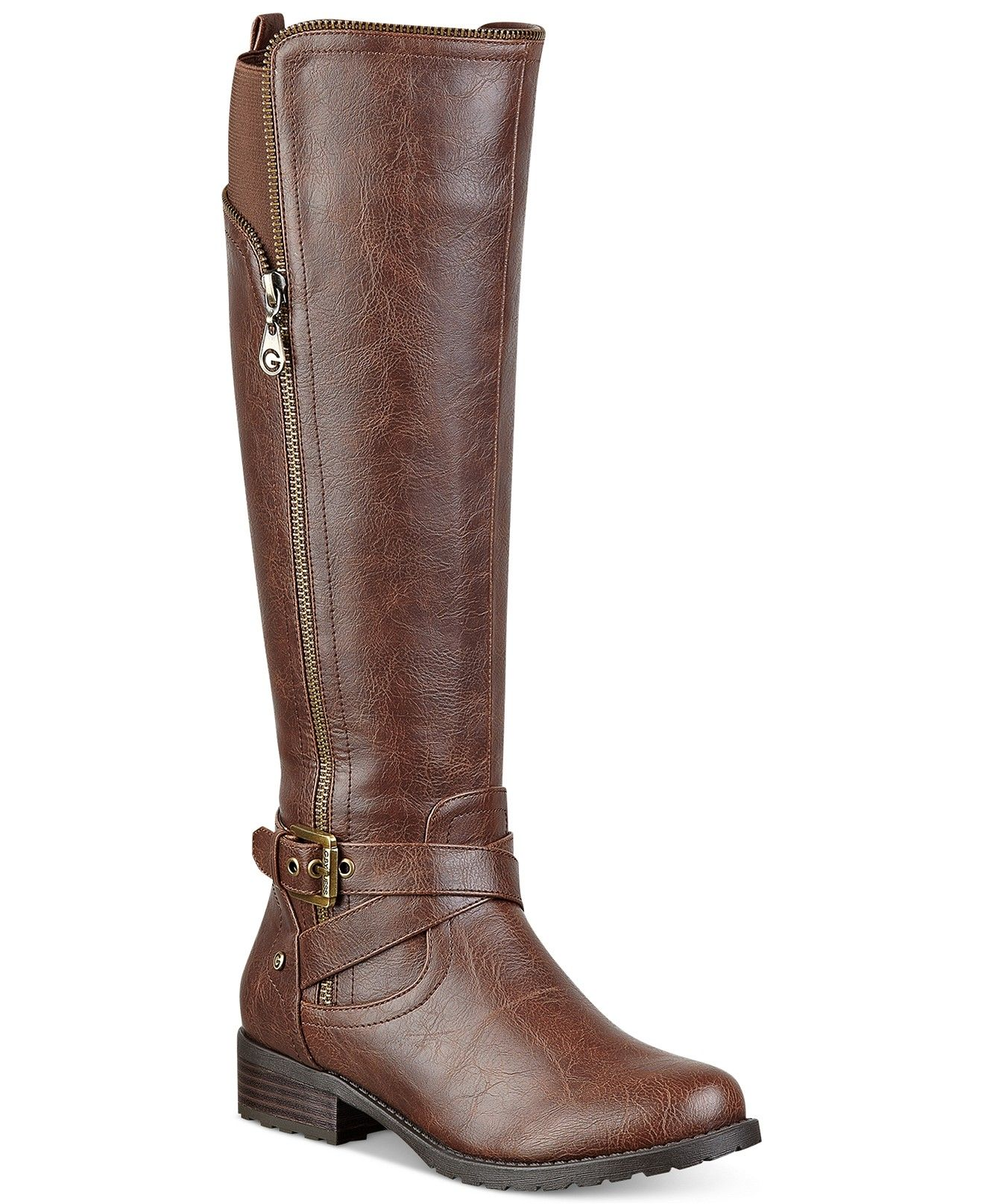 cf57c88c314 G by GUESS Women's Halsey Tall Shaft Riding Boots - Sale & Clearance - Shoes  - Macy's