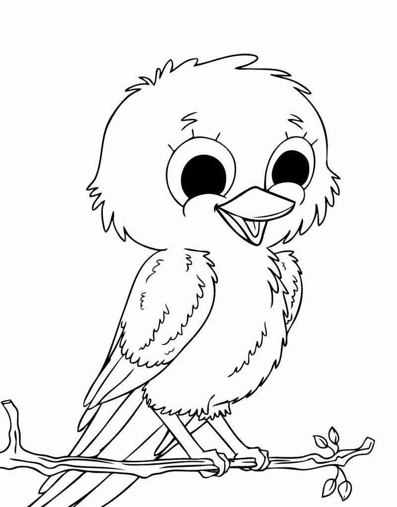Printable Kids Bird Coloring Pages Owl Coloring Pages Animal Coloring Pages Bird Coloring Pages