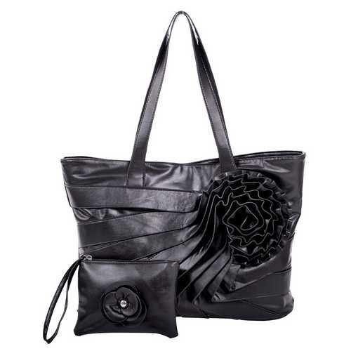 65.95$  Watch here - http://viohw.justgood.pw/vig/item.php?t=lzofocc47715 - Ladies Faux Leather Large Handbag black with Wristlet shoulder travel cross body