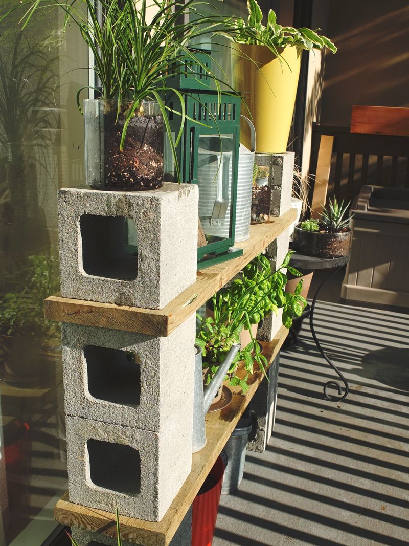 Attractive Cinderblock Storage Solutions.