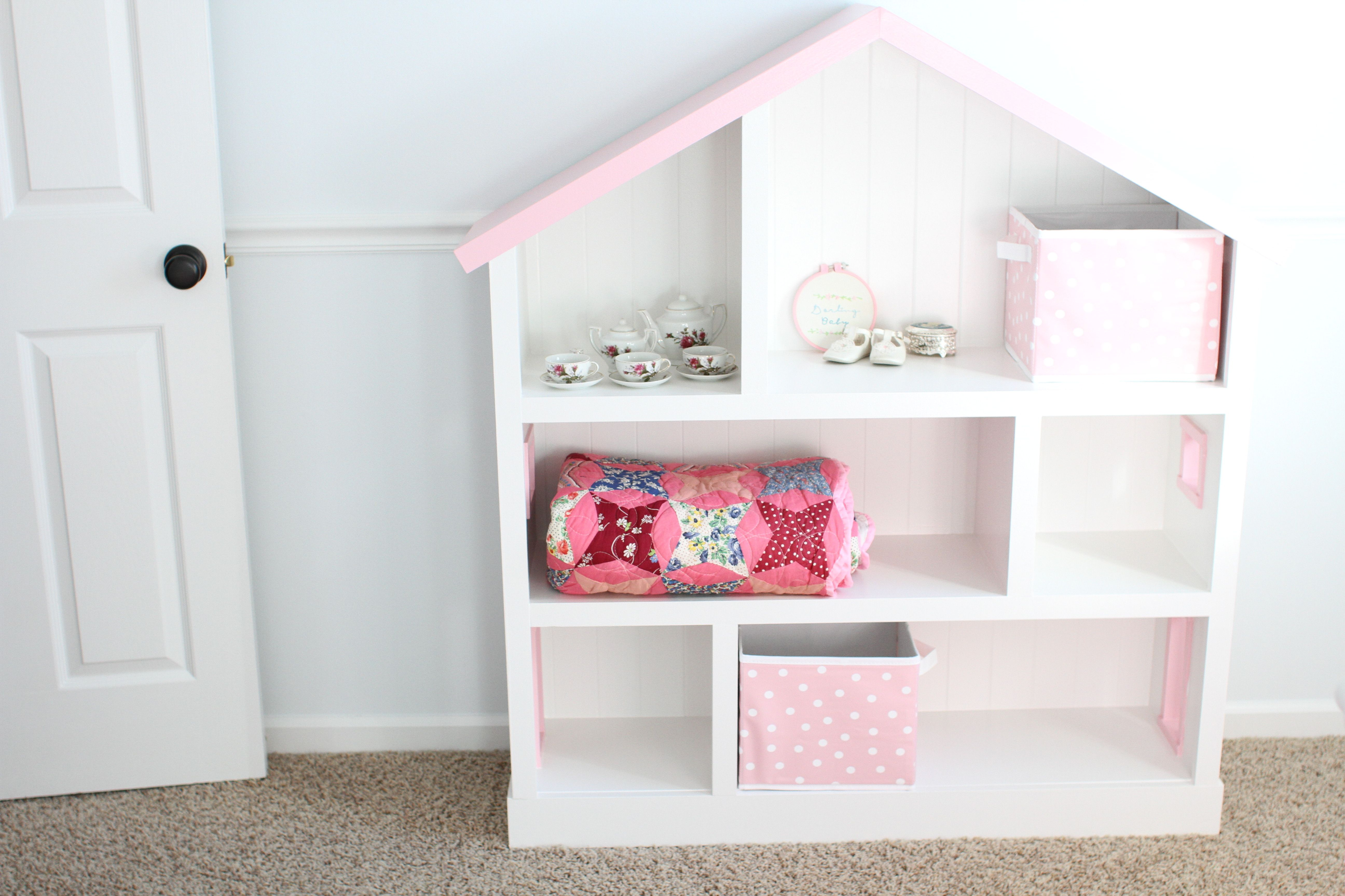 Create A DIY Dollhouse Bookcase That Looks Even Better Than The Version Sold At Pottery Barn