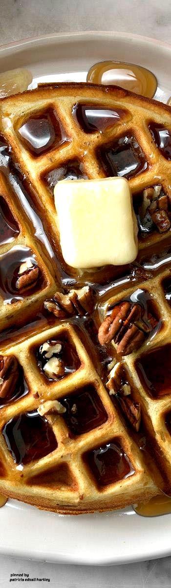 Buttermilk Pecan Waffles Recipe Pecan Recipes Food Pecan Waffle Recipe