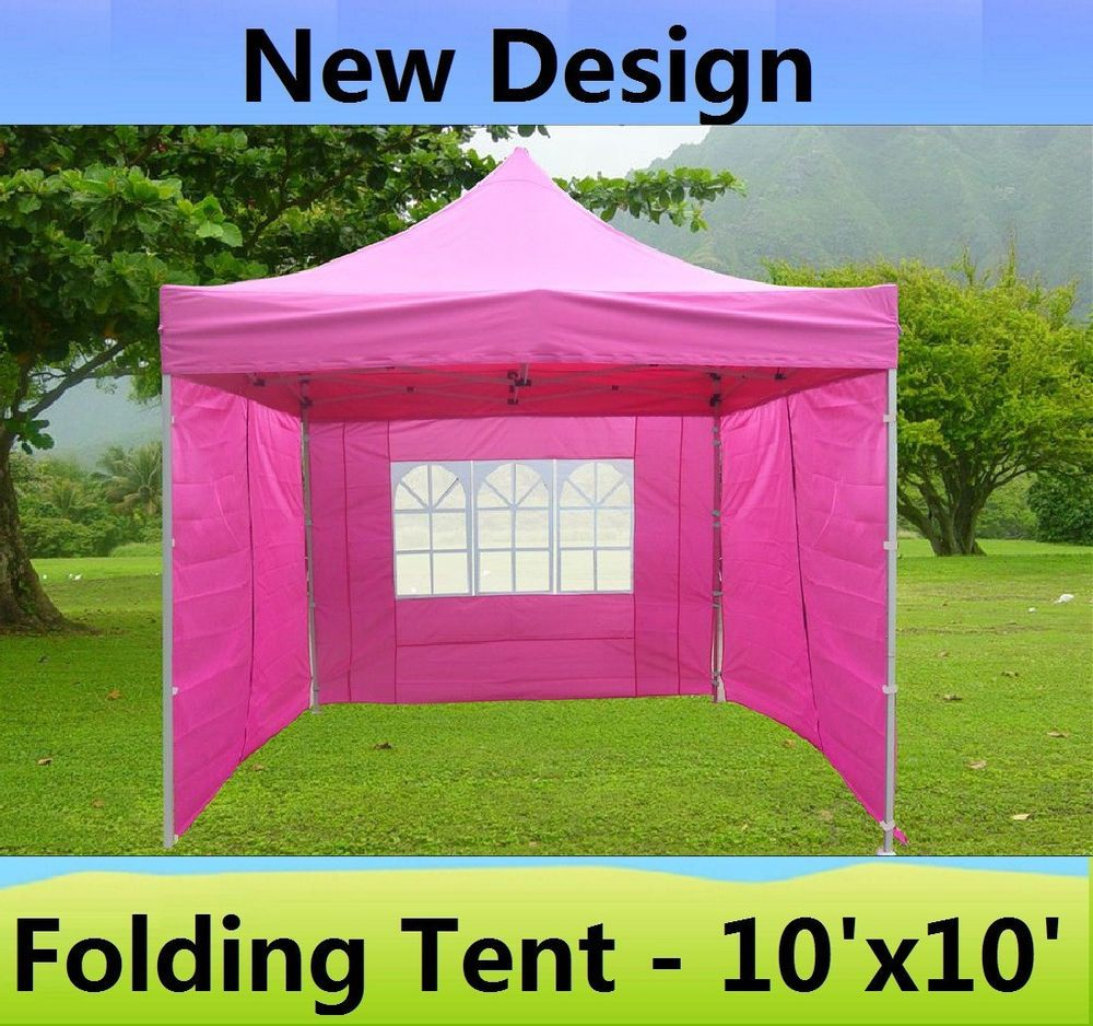 10u0027 x 10u0027 Pop Up Canopy Party Tent Gazebo EZ - Pink - E Model & 10u0027 x 10u0027 Pop Up Canopy Party Tent Gazebo EZ - Pink - E Model ...