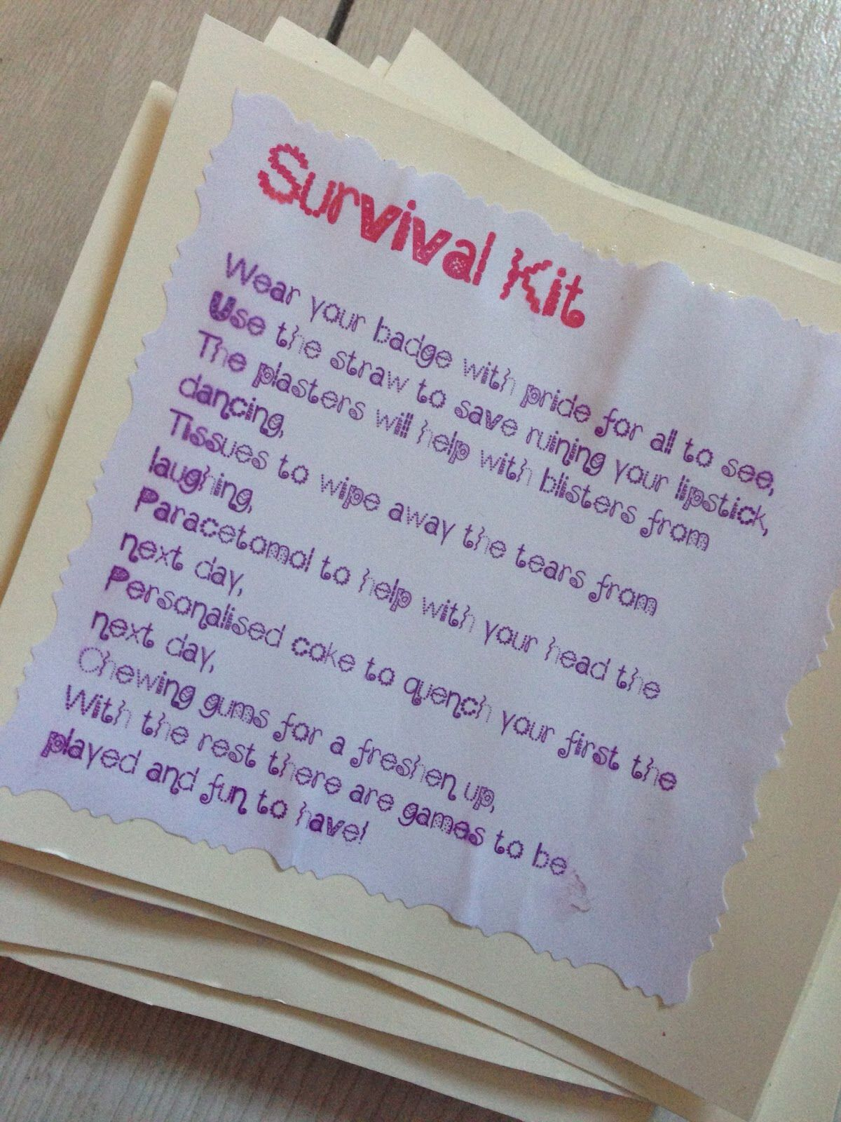 Survival Kit Hen Do Party Bags Gifts Gift