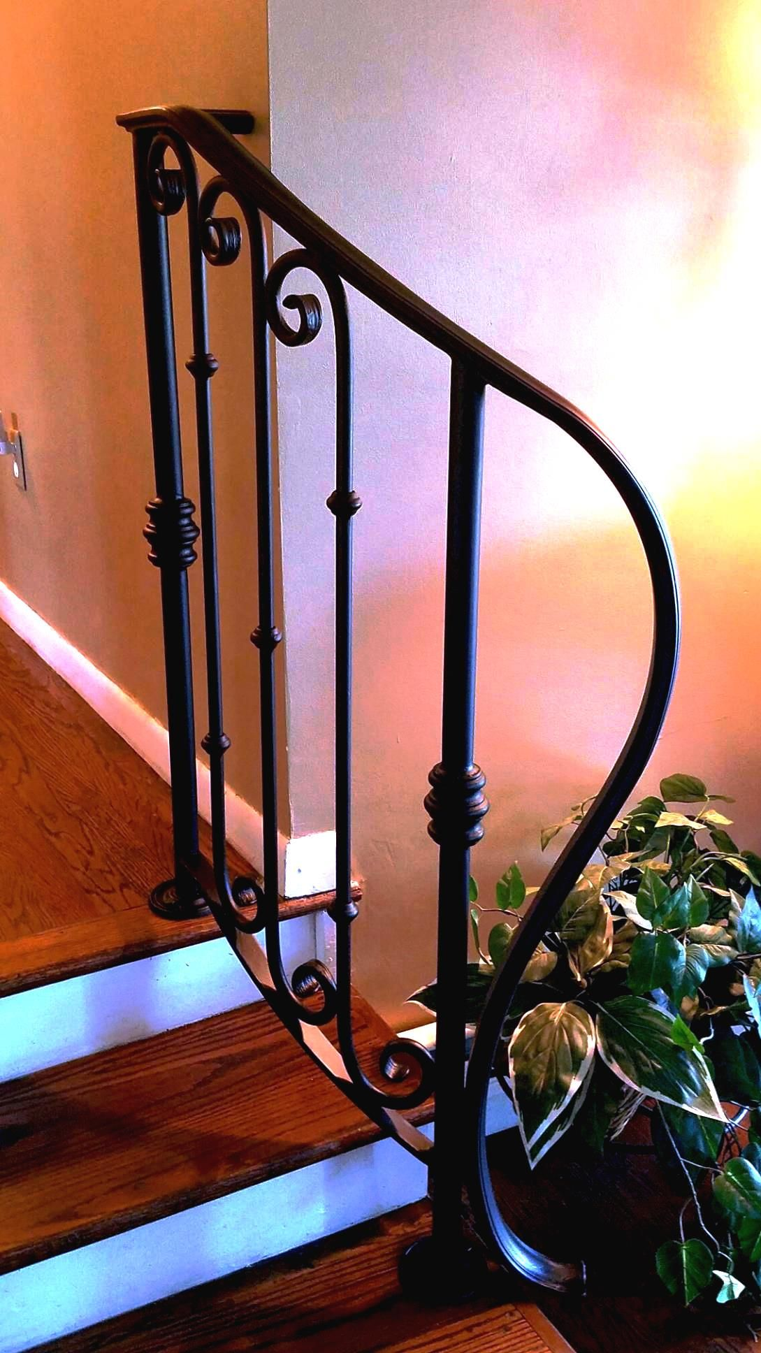 Best Decorative Wrought Iron Railing With Collars And Scrolls 400 x 300