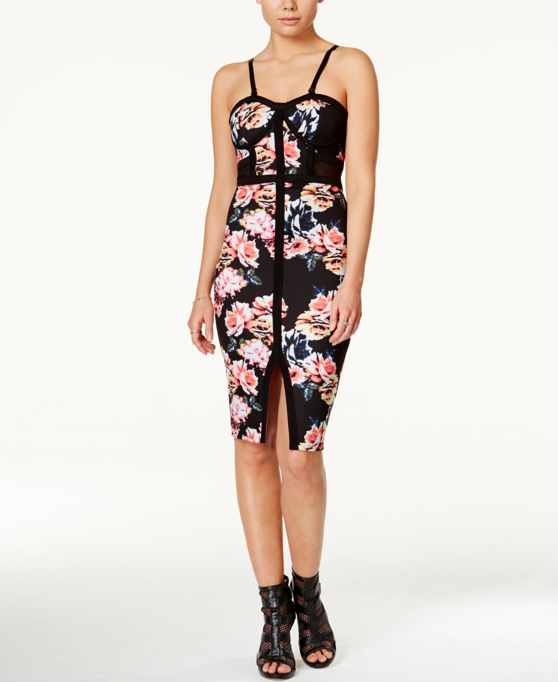 Material Girl Juniors Printed Bodycon Dress Only At Macy S