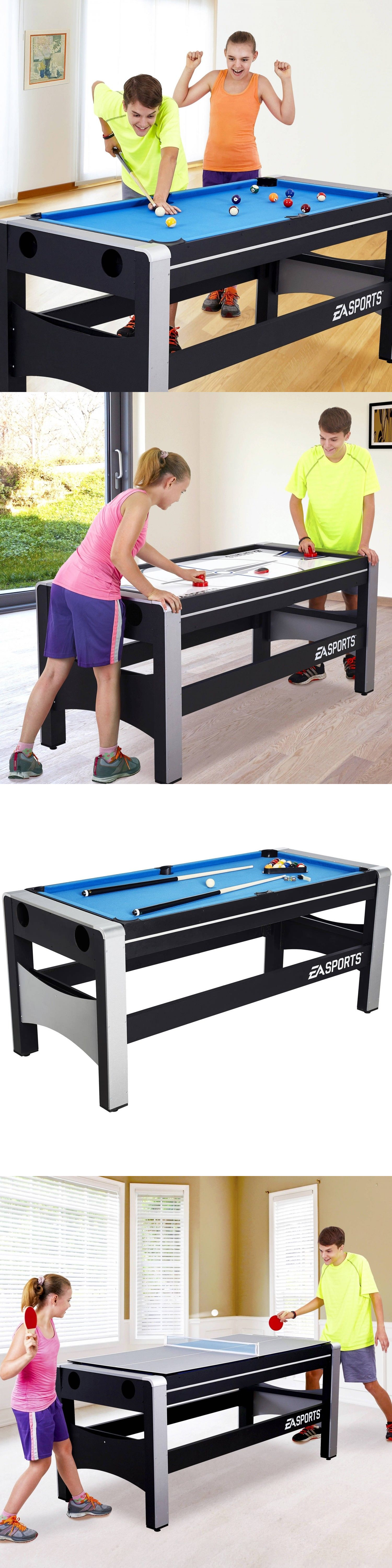 Air Hockey 36275: 72 Game Table Combo Table Tennis Hover Hockey Finger  Shoot Basketball Billiards